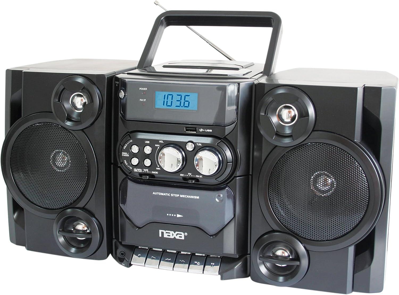Naxa Portable CD Player with AM//FM Stereo Speaker Boombox Radio