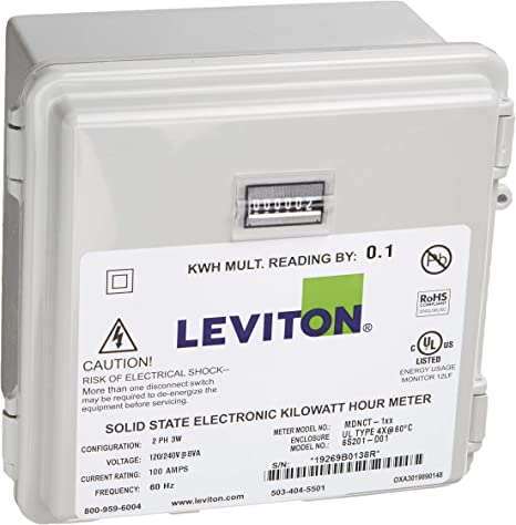 1600-Amp Leviton VerifEye Series 3300 Modbus RTU Outdoor Meter Kit with 3 Split Core CTs