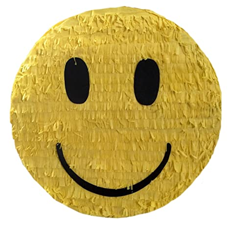 amazon com smiley face emoticon pinata 16 toys games