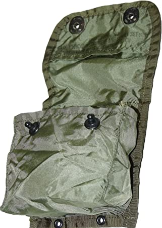DOD Inspected US Military Issue Individual First Aid Kit in ALICE Belt Pouch