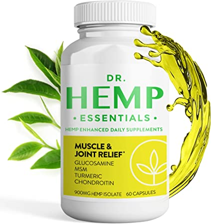 Joint Pain Relief - Muscle Pain Relief Pills - Boswellia Extract - Hemp Extract Capsules - Boswellia Serrata Capsules - Boswellia Capsules - Turmeric Supplement - Muscle and Joint Relief