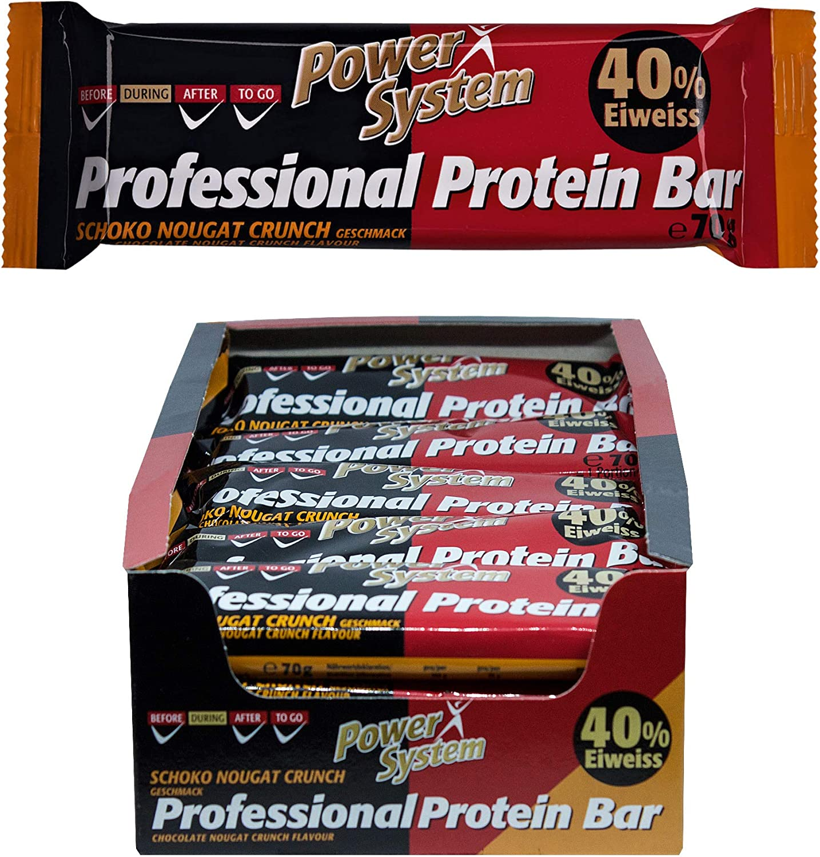 Power System Professional proteína Bar – Chocolate de Nougat – 16 x 70 g