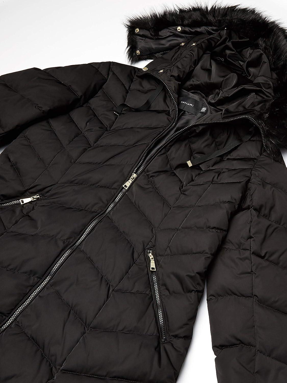 T Tahari Womens Heavy Weight Puffer Coat with Faux Fur Hood
