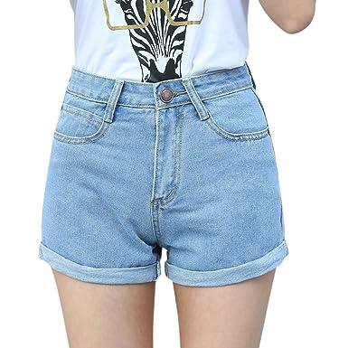 Lisli Shorts Jeans Femme Taille Haute Jeans