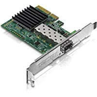 TRENDnet 10 Gigabit PCIe SFP+ Network Adapter, TEG-10GECSFP, Convert a PCIe Slot Into a 10G SFP+ Slot, Supports 802.1Q, Standard & Low-Profile Brackets Included, Compatible with Windows & Linux
