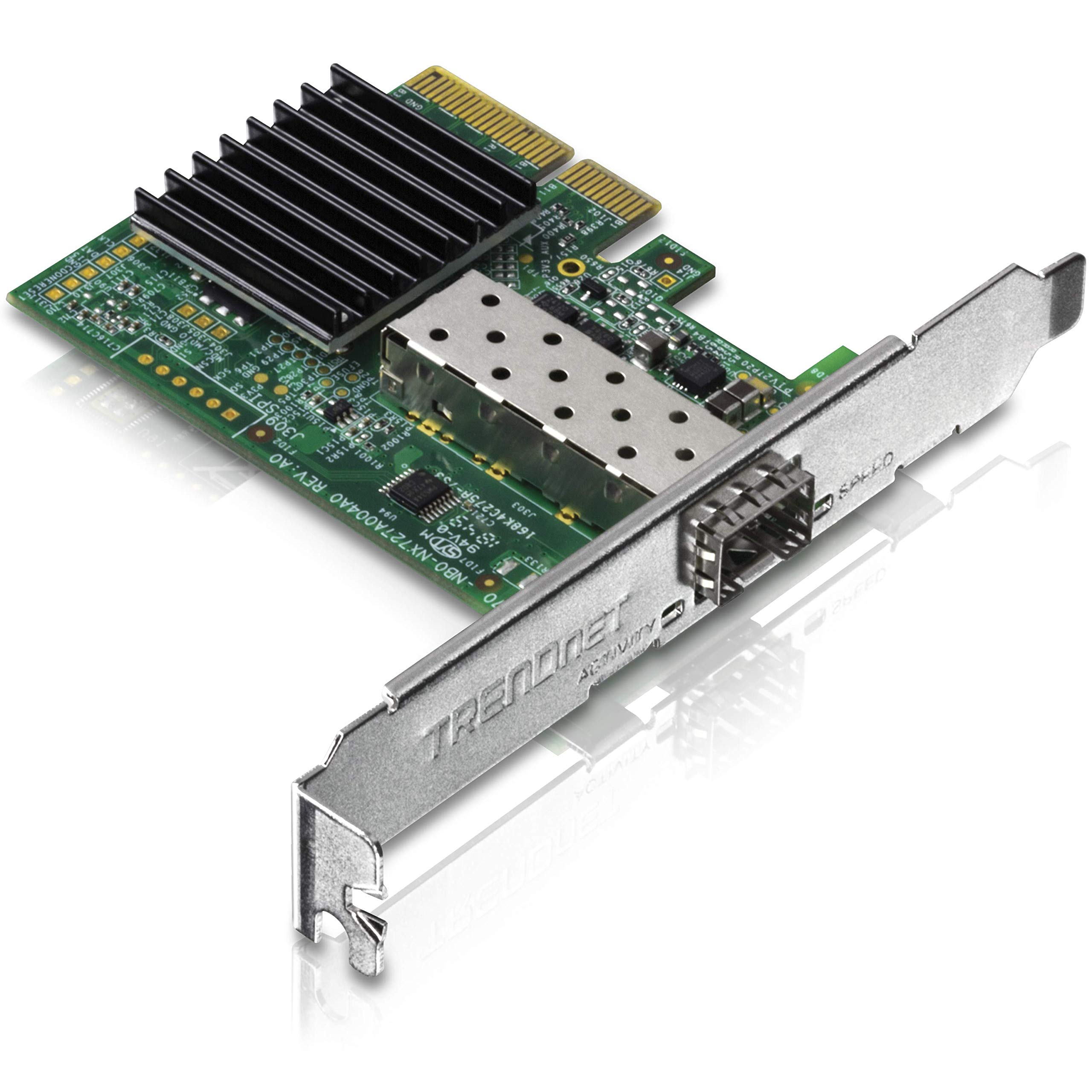TRENDnet 10 Gigabit PCIe SFP+ Network Adapter, Standard and Low-Profile Brackets Included, TEG-10GECSFP by TRENDnet