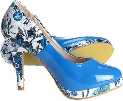 Ladies Fairy Meadow Blue Shoes: Amazon