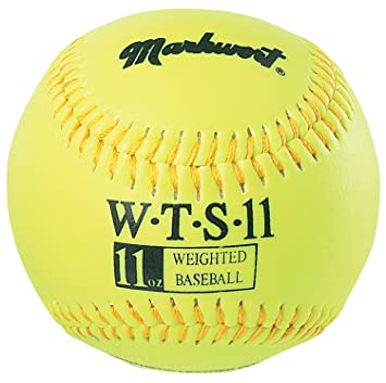 9-Inch Markwort Weighted Synthetic Covered Baseball 3-Ounce Optic Yellow WTS-3