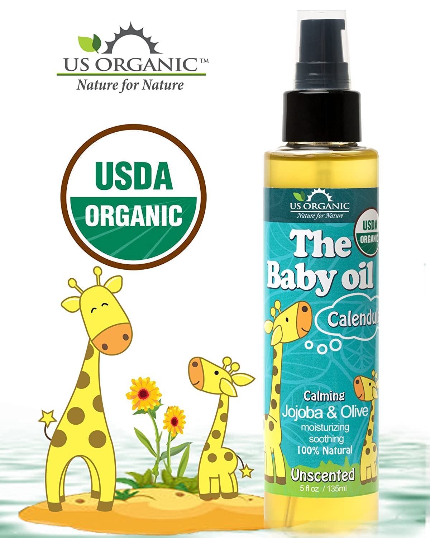 amazon com us organic baby oil with calendula unscented jojoba