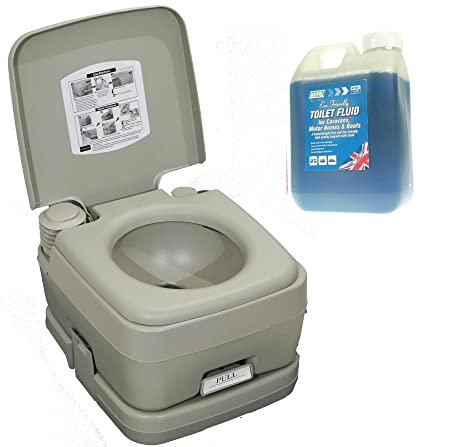 Portable Toilet Chemical Loo & Superior Toilet Rinse Camping Caravan ...