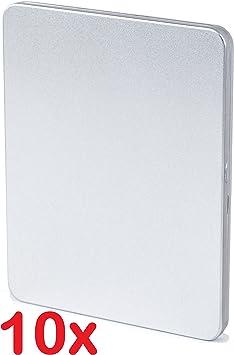 10 x Blu-ray (Blu-ray Steel portatil metal vacía Fundas para BLU RAY películas Blu-Ray Disc CD Móvil DVD móvil se puede pintar y imprimibles: Amazon.es: Informática