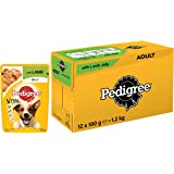 Pedigree Vital Protection Adult Wet Valentines Gift Dog Food, Lamb in Jelly, 12 Pouches (12x100g)