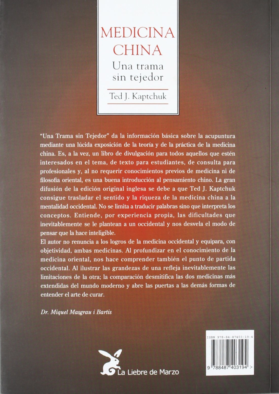 Amazon.com: Medicina China: Una Trama Sin Tejedor (Spanish Edition ...
