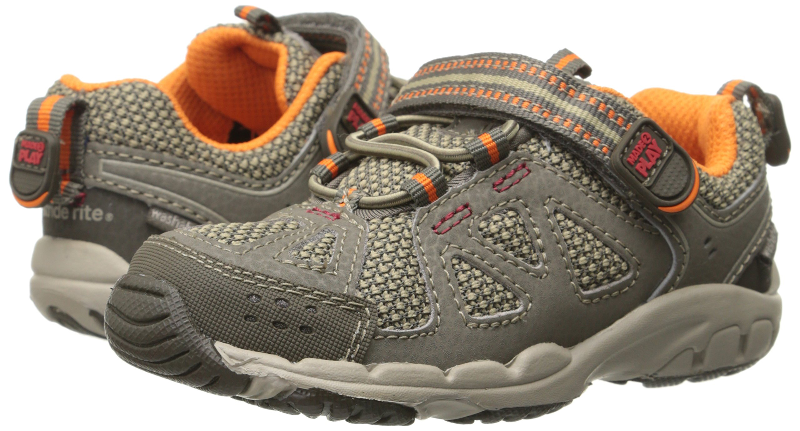 Stride Rite Made 2 Play Baby Ian Sneaker (Toddler),Taupe,4.5 XW US Toddler by Stride Rite (Image #5)