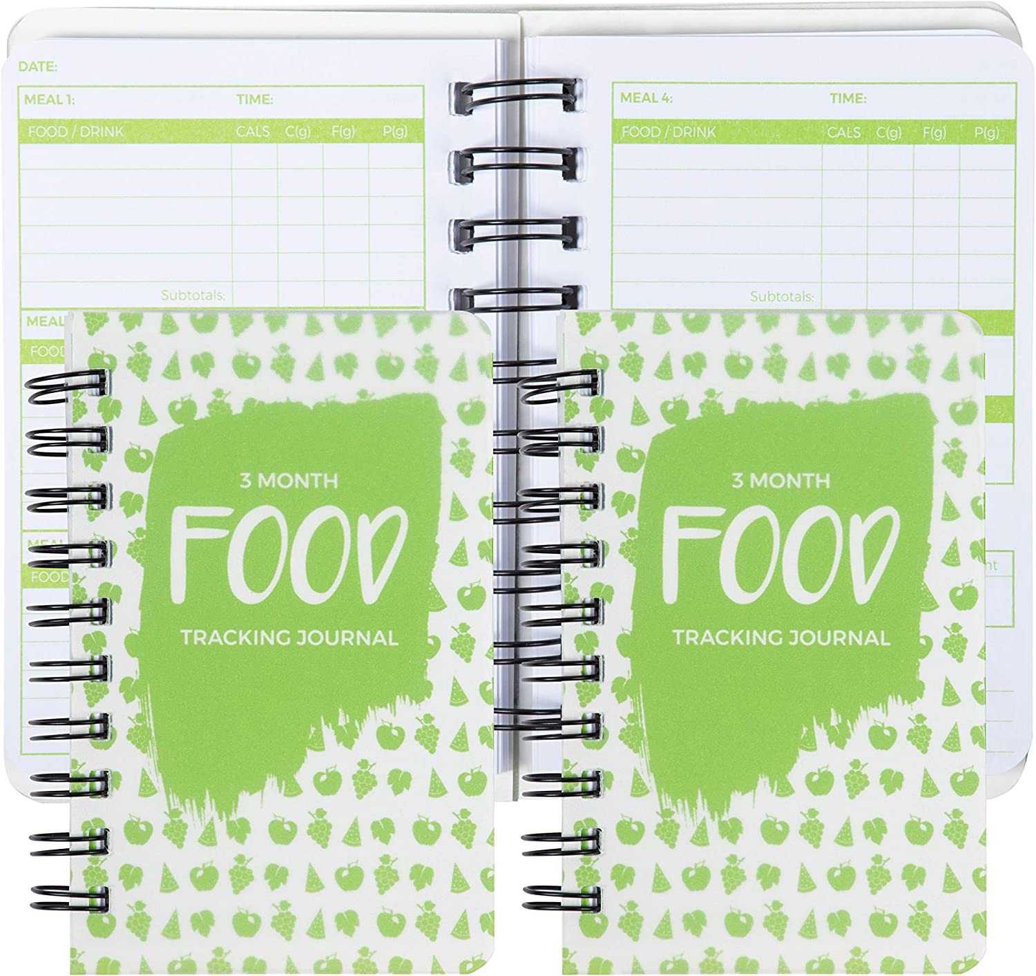 Amazon Com Paper Junkie 3 Pack 90 Day Meal Tracker Pocket Food Journal For Diet Calorie Counting Weight Loss 5 X 3 5 Inches Health Personal Care