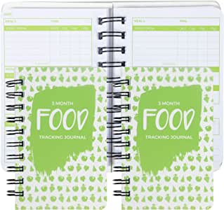 Paper Junkie 3 Pack 90 Day Meal Tracker Pocket Food Journal for Diet, Calorie Counting, Weight Loss, 5 x 3.5 Inches