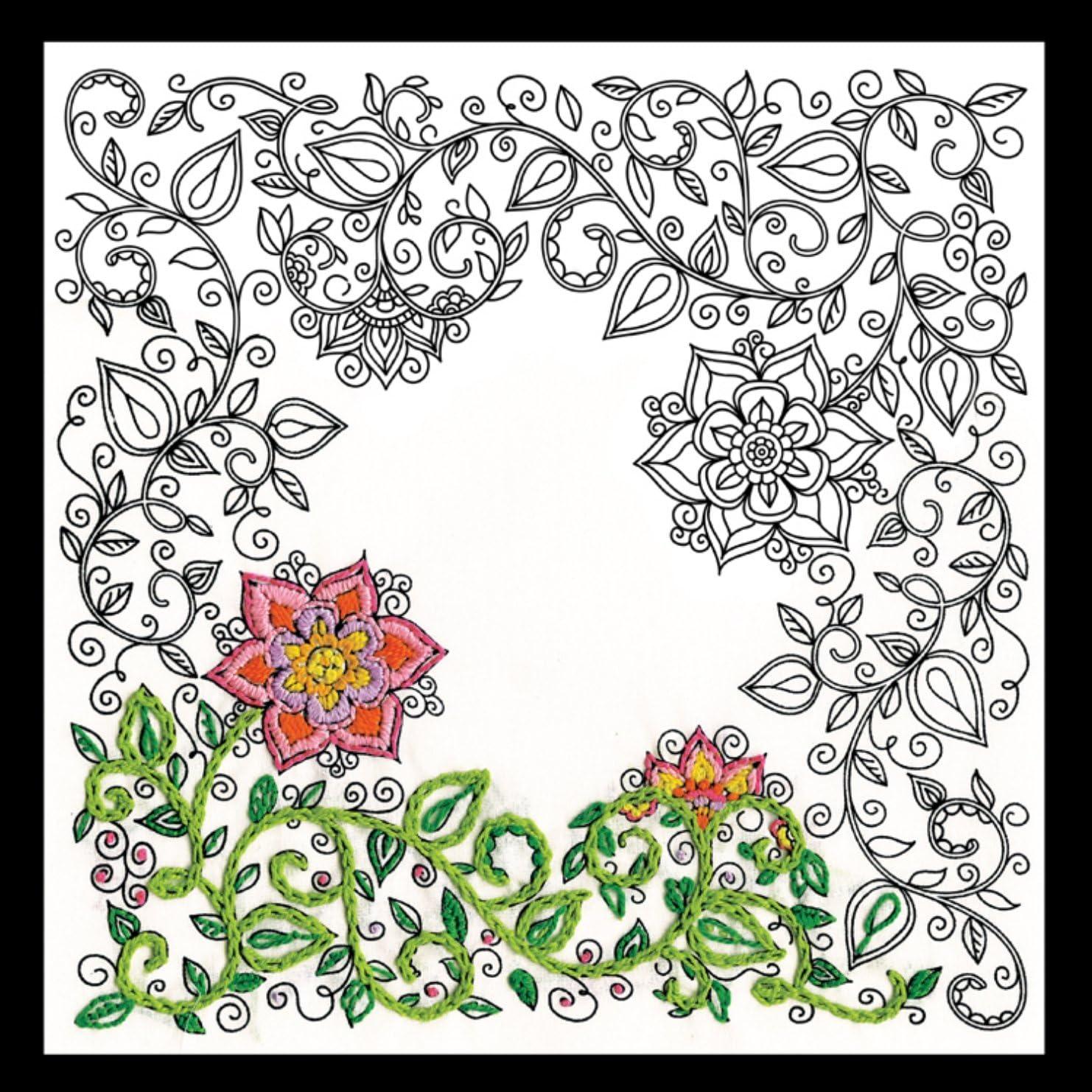 de algodón color blanco. Zenbroidery Kit de 36madejas bordado