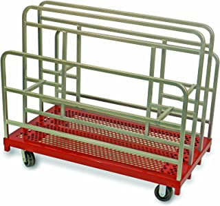 """product image for Raymond Products 5016 Heavy Duty 5"""" Phenolic All Swivel Casters Cross-Brace Panel/Sheet Mover With Anti-Skid Platform"""