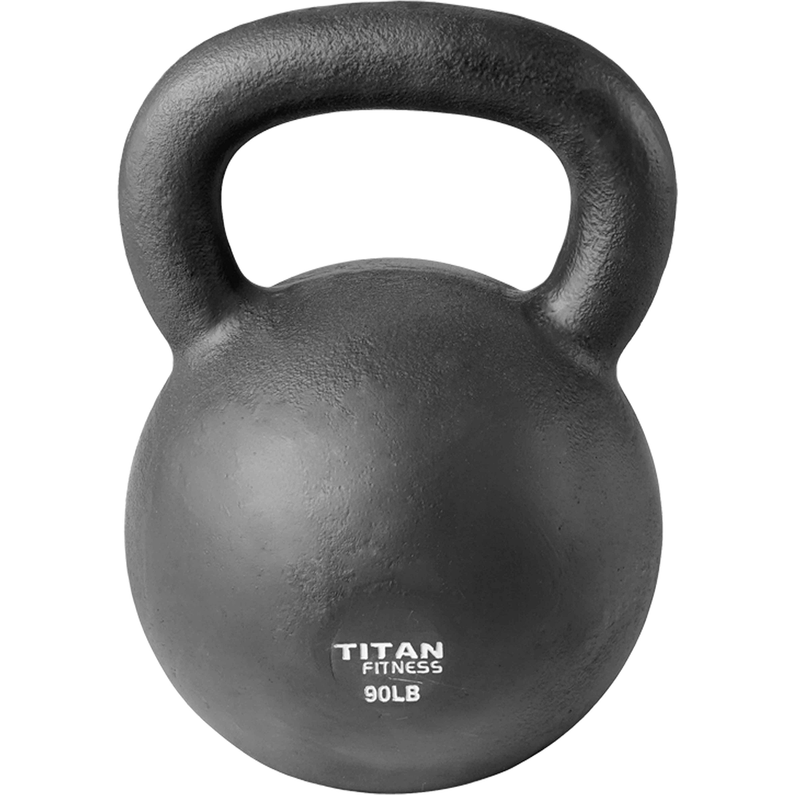 Cast Iron Kettlebell Weight 90 lb Natural Solid Titan Fitness Workout Swing by Titan Fitness (Image #3)