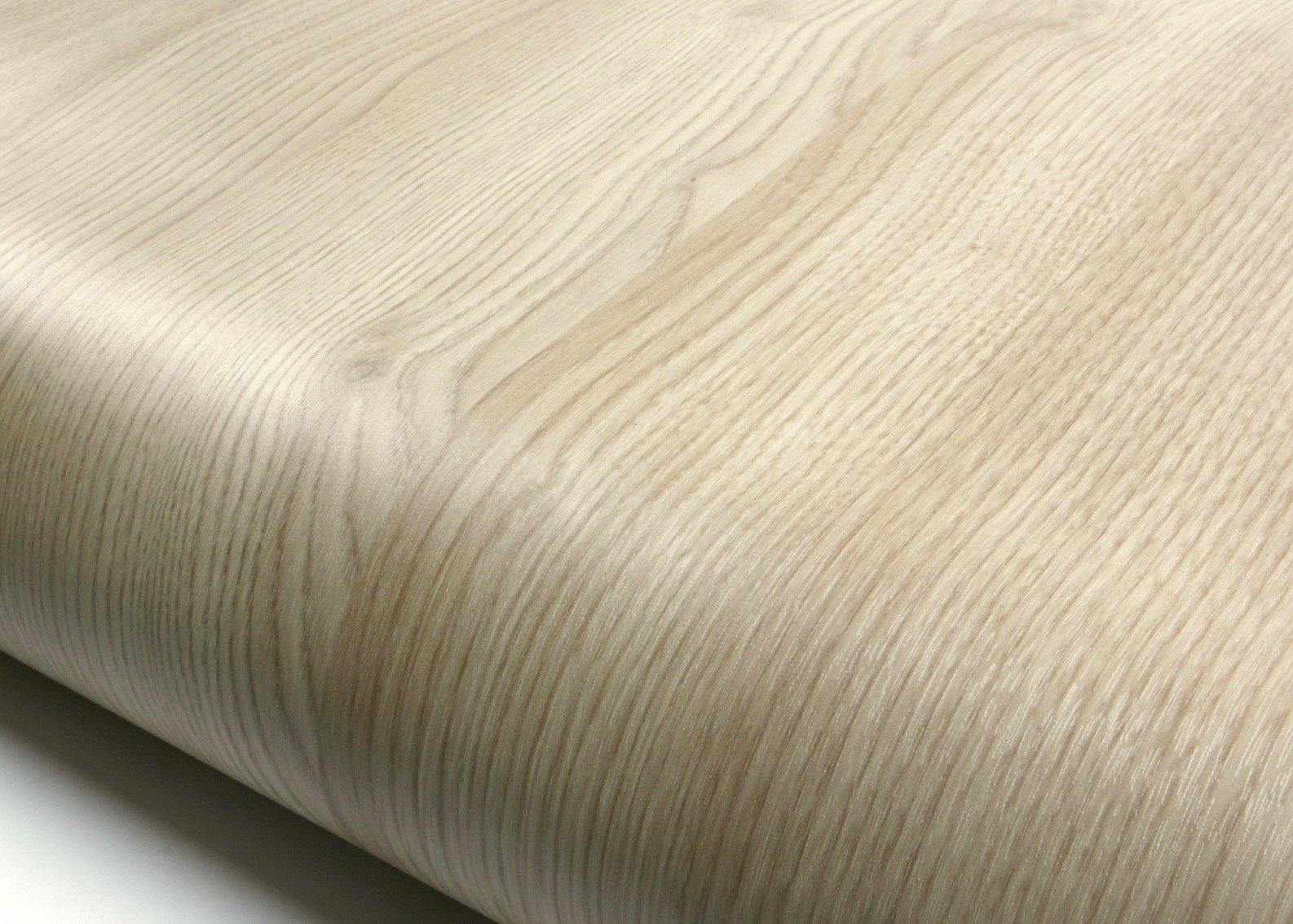 ROSEROSA Peel & Stick Flame Retardant Backsplash Rustic Trendy Oak Wood Textured Vinyl Contact Paper Self-adhesive Wallpaper Shelf Liner Table and Door Reform (PF4164-5 : 2.00 Feet X 6.56 Feet)