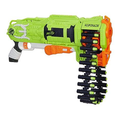 Amazon Com Nerf Zombie Ripchain Combat Blaster Toys Games