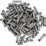 Set of 100 Pieces Silver Tech Traders 5AMP Domestic Plug Top Household Mains 5A Cartridge Fuse