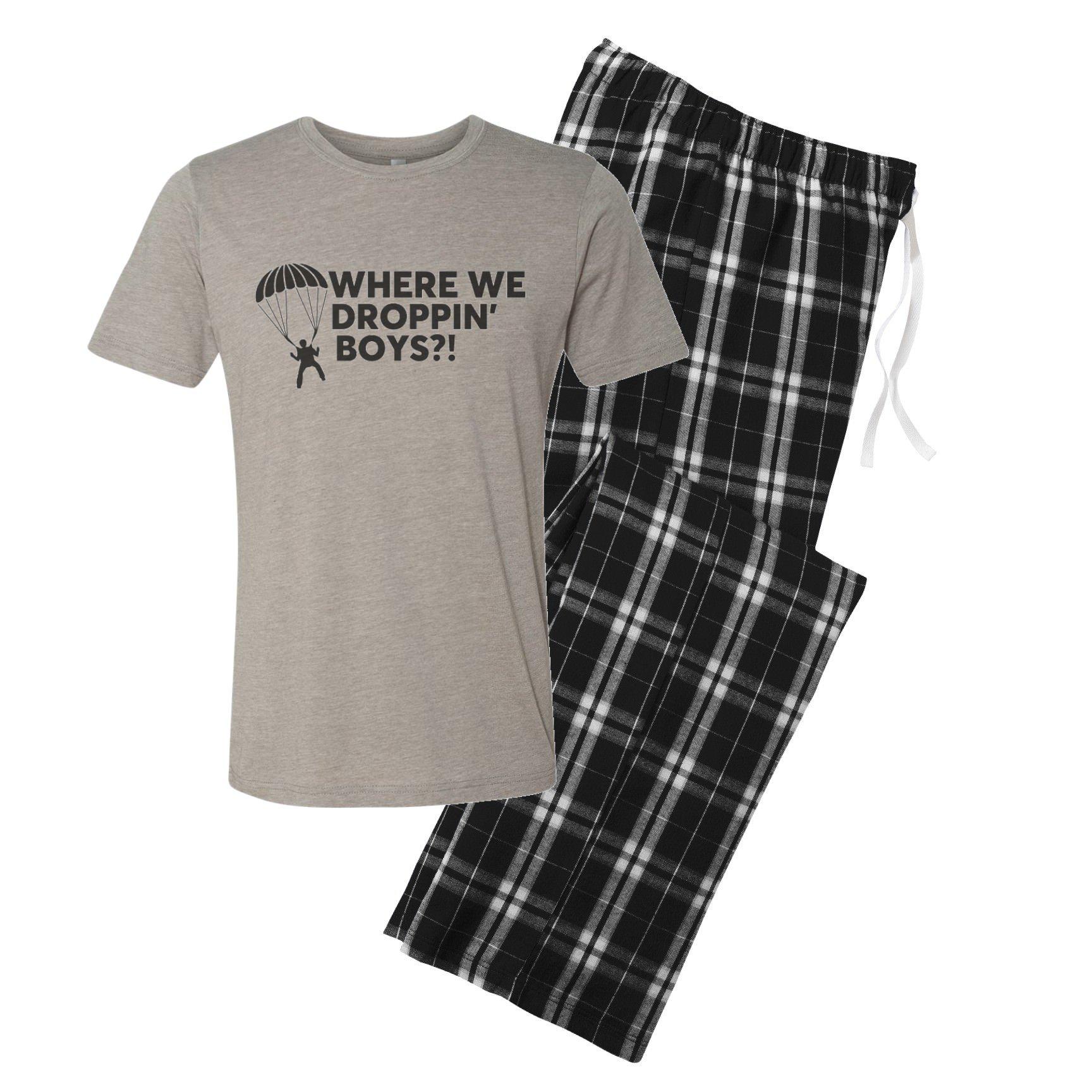 The Creating Studio Men's Where We Droppin' Boys?! Pajama Set - Large