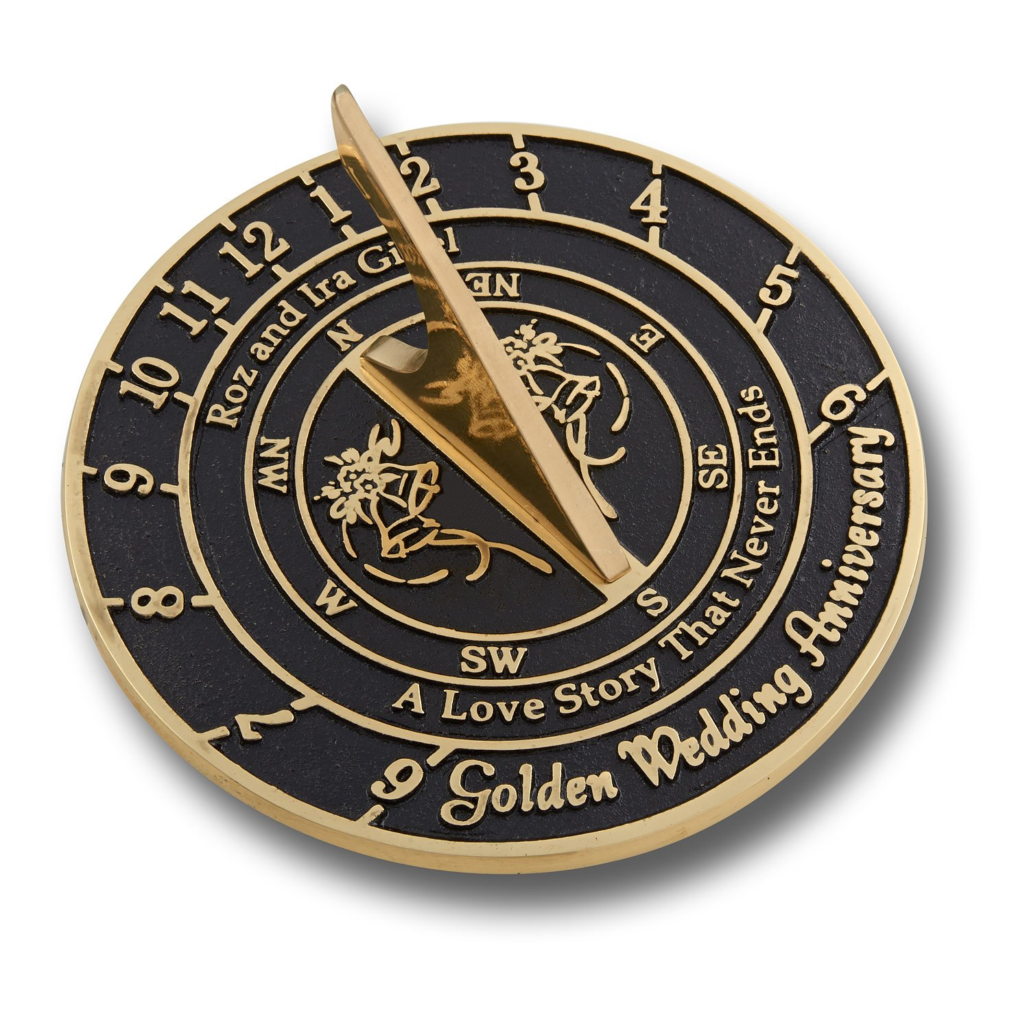 The Metal Foundry Ltd Personalised Wedding & Anniversary Sundial Gift. Perfect Gift For Him, For Her Or For A Couple To Celebrate Any Special Anniversary. Handmade In England