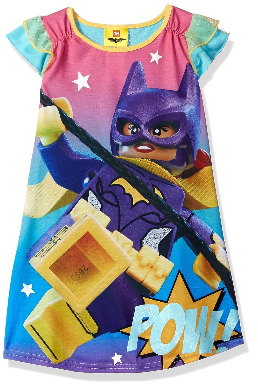 LEGO Batman Big Girls' Lego Batgirl Ruffle Short Sleeve Nightgown PJ