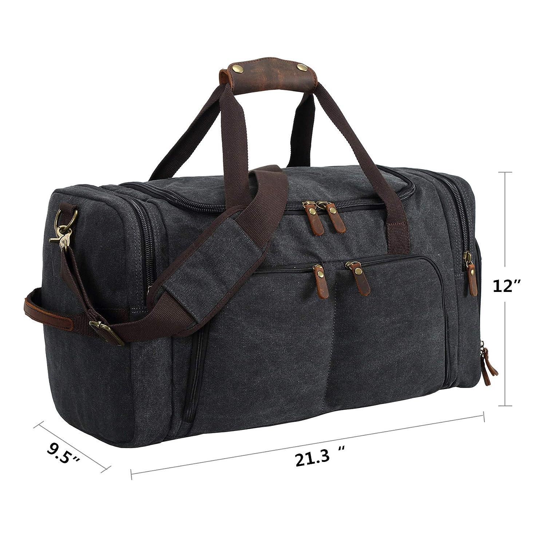 Amazon Com Bluboon Canvas Duffle Bag Weekend Overnight Travel