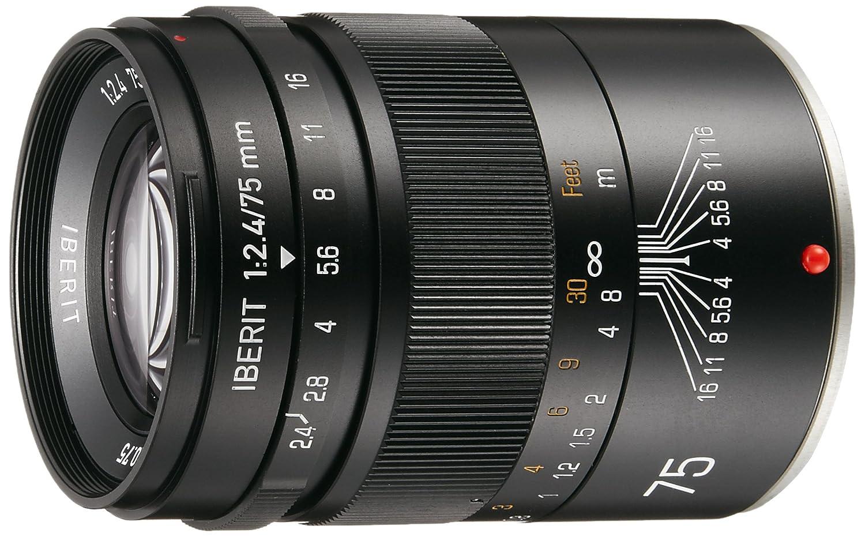 HandeVision 単焦点レンズ IBERIT (イベリット) 75mm f/2.4 ブラック (富士フィルムXマウント) 75mm ブラック B00M586P36