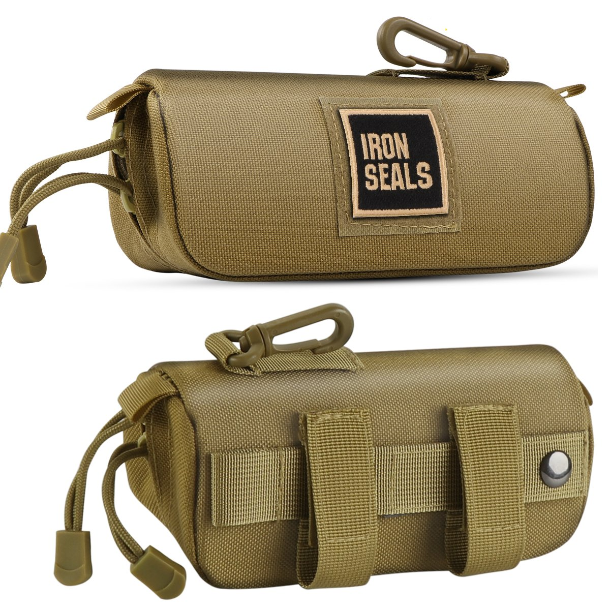 IronSeals Tactical Molle Sunglasses Case Anti-Shock Hard Clamshell Glasses Case