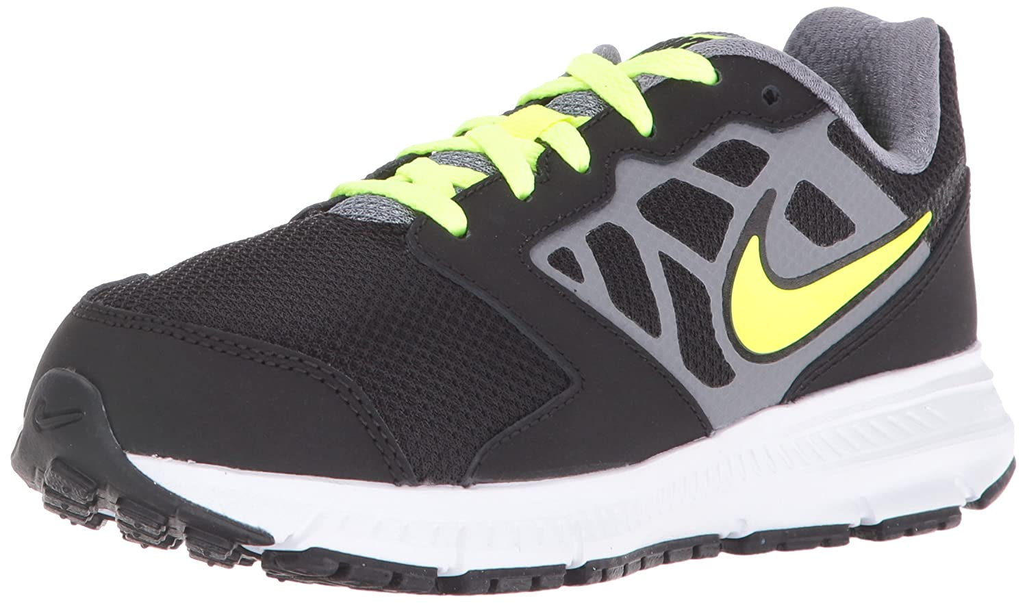 NIKE ' Downshifter 6 (GS/PS) Running Shoes B008RQM8PE 4.5 M US Big Kid|Black/Volt/Cool Grey/Rio Teal