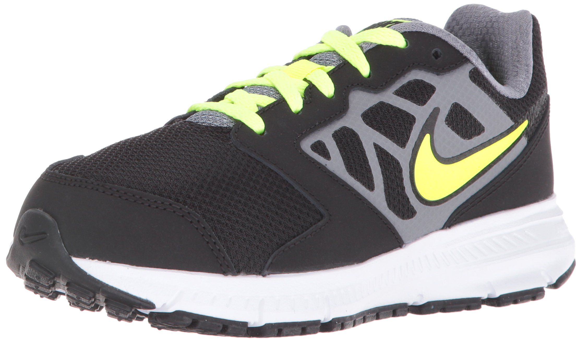 cheap for discount 04d60 62e32 Galleon - NIKE Boys  Downshifter 6 (GS PS) Running Shoe, Black Volt Cool  Grey Rio Teal, 2 M US Little Kid
