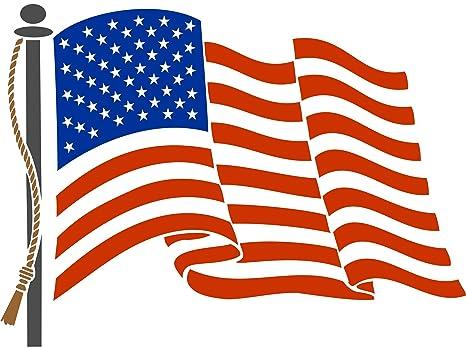 Bandera De Estados Unidos Plantilla Reutilizable De Pared