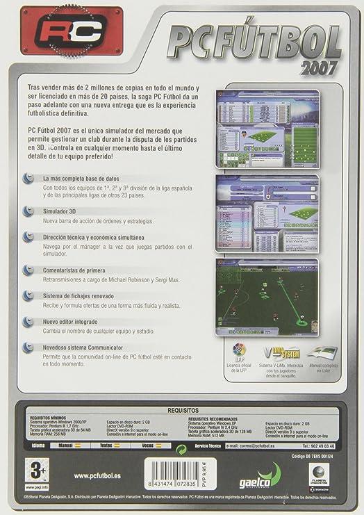 PC Futbol 2007: Amazon.es: Videojuegos