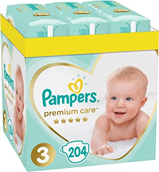 Pañales para bebé Premium Care 3, tamaño 3, pañales para bebé 3, 5 – 9 kg, pack doble, 408 unidades: Amazon.es: Salud y cuidado personal