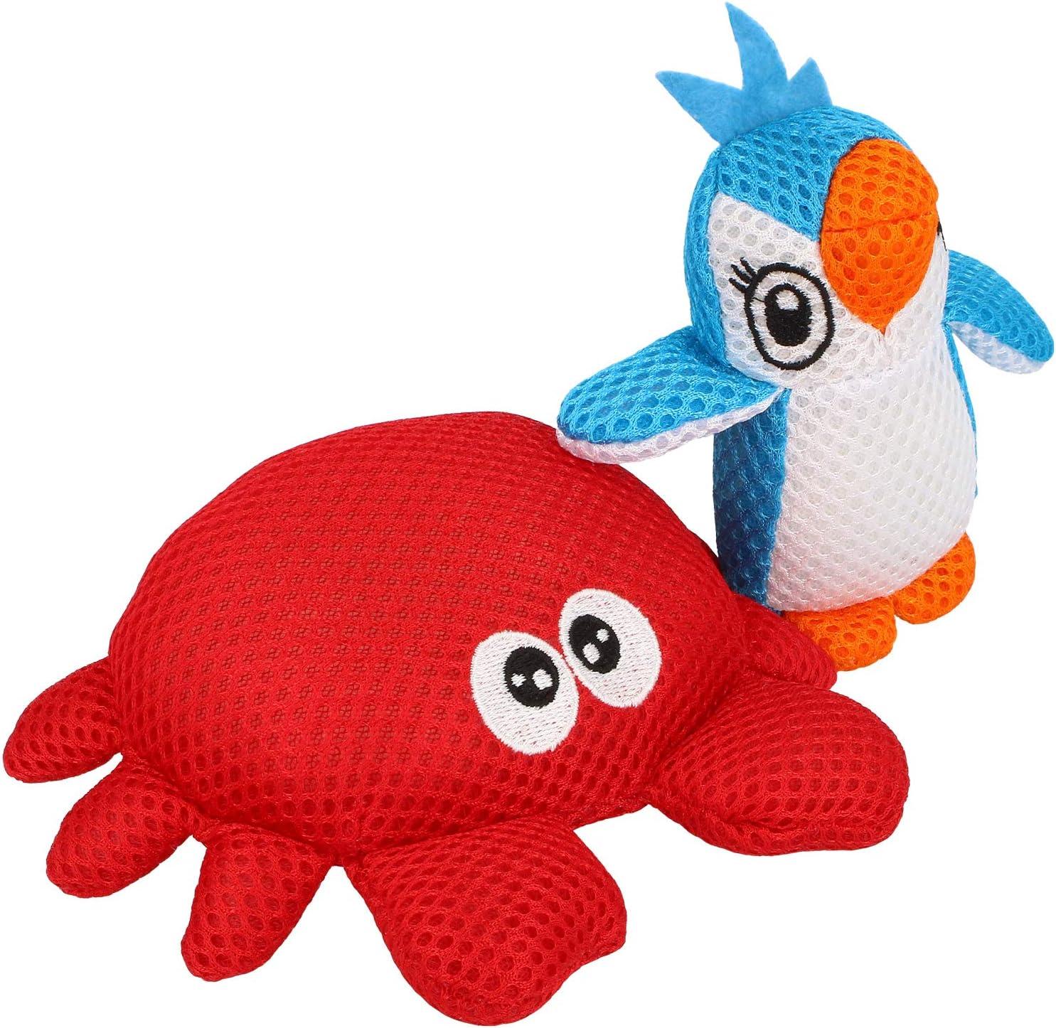 com-four® 2X Esponja para niños - Bola de baño en diseño Animal - Esponja de jabón con Diferentes Motivos [la selección varía] (02 Piezas - Esponja Motivos Animales)