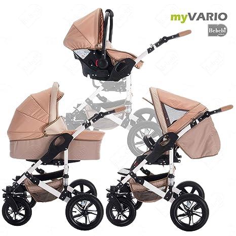 bebebi | modelo myvario | 3 en 1 Cochecito Combinado | rueda ...