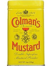 Colmans Dry Mustard Tins, 4 oz