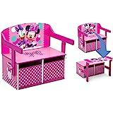 Delta Children Kids Convertible Activity Bench, Disney Minnie Mouse