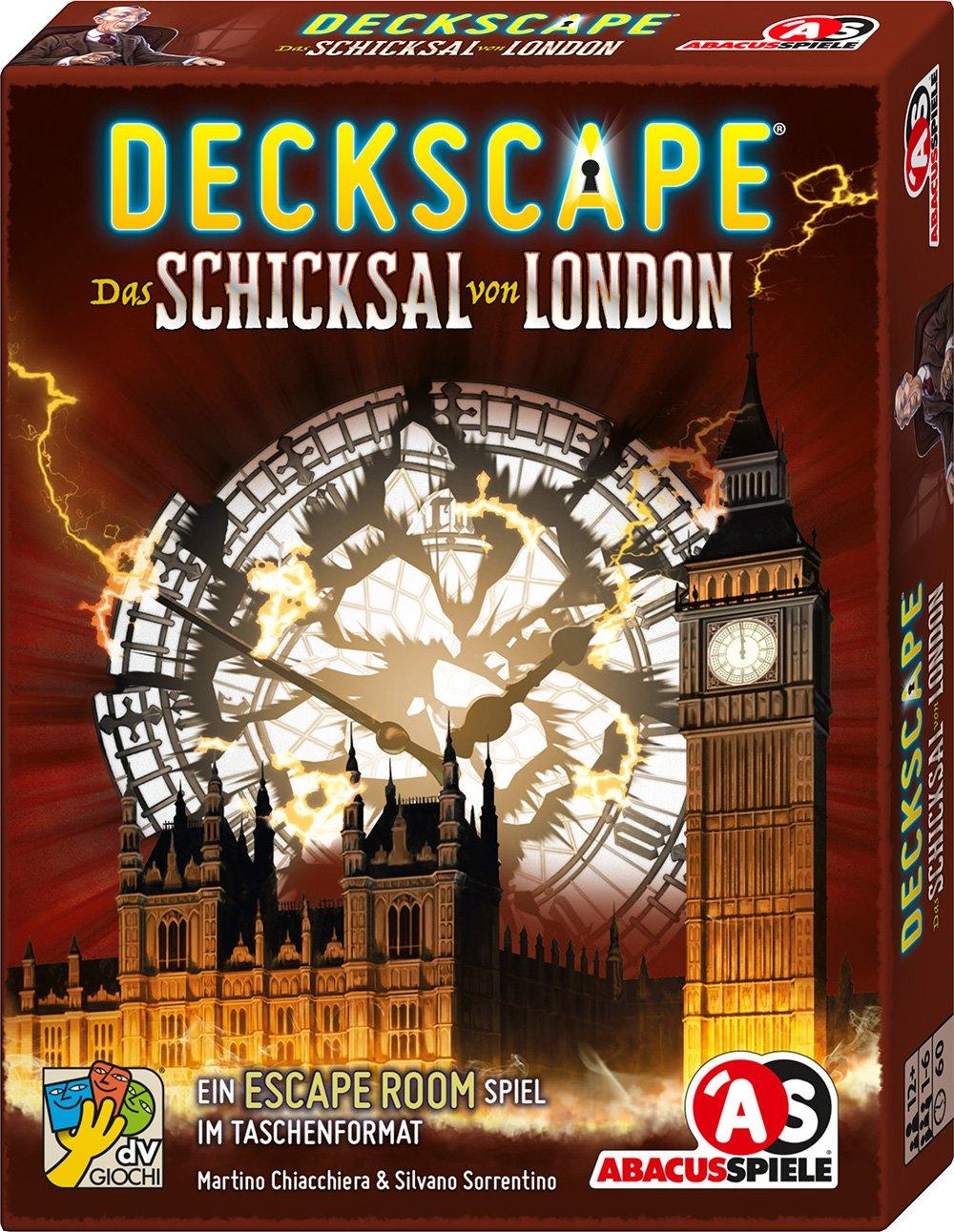 Abacus Spiele ABACUSSPIELE ABA38173 Deckscape Das Schicksal Von London Board Game