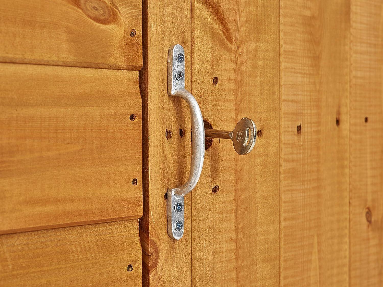 Garden Shed Door Pull Handle Screws 150mm Galvanised Zinc Plated Silver