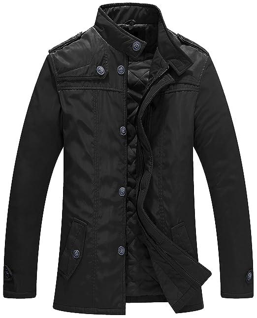 a it Cotone Uomo Wantdo Vento Abbigliamento Giacca Amazon Imbottito SUPSq7