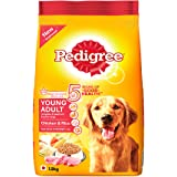 Pedigree Young Adult Dog Food Chicken & Rice, 1.2 kg Pack