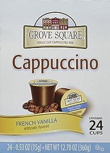 Grove Square French Vanilla Cappuccino Individual Cups - 72 ct.