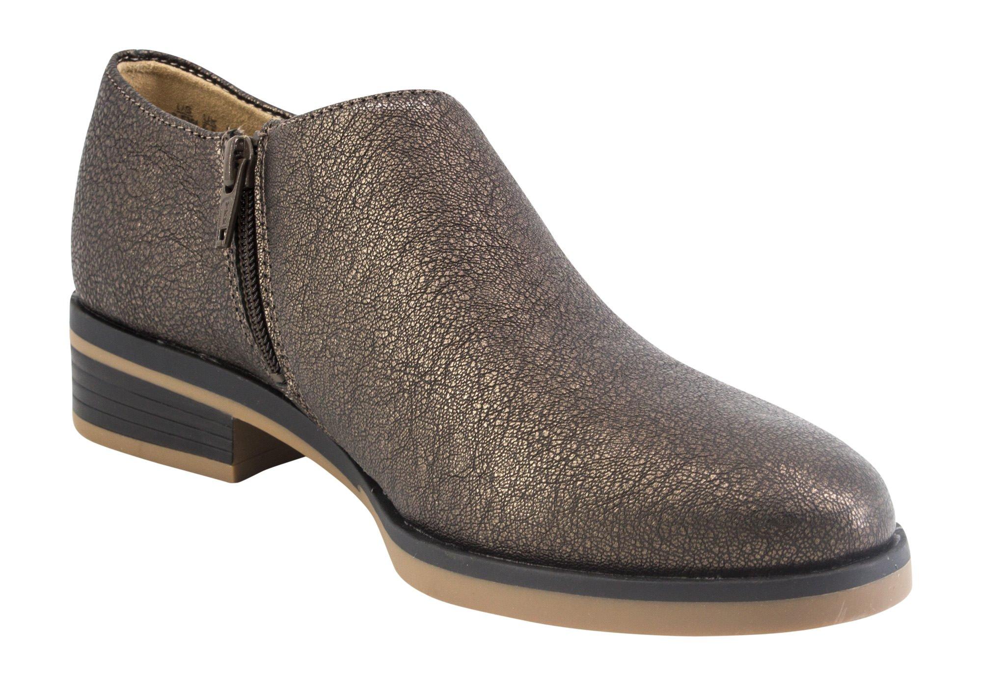 Naturalizer Women's Regan Ankle Dress Shoe, Bronze Crackle, Size 7.5 B(M) US
