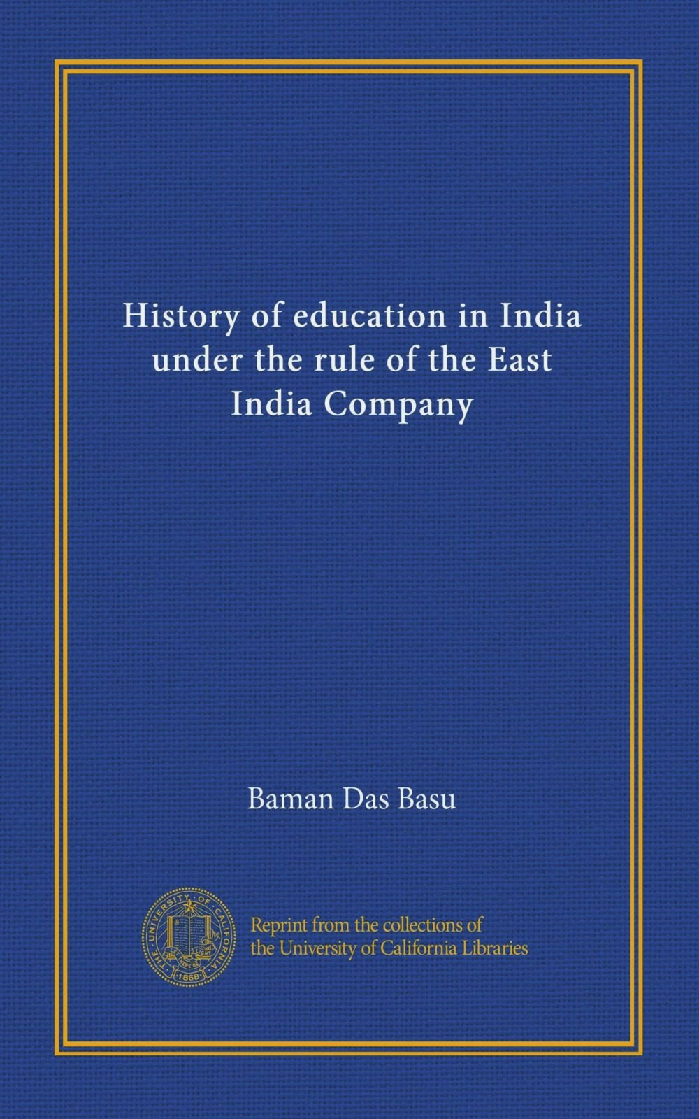 Download History of education in India under the rule of the East India Company pdf epub