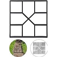 Relaxdays 10025399 Molde Hormigón para Pavimentos, Plástico, Negro