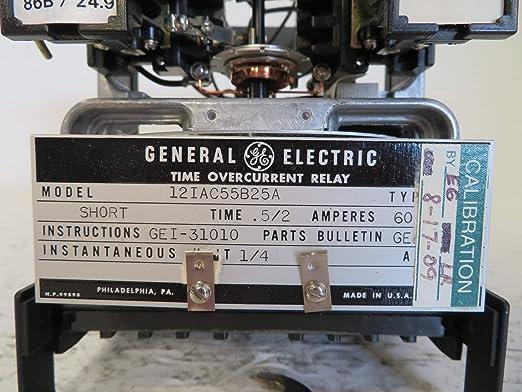 General Electric 12IAC55B25A - Relé de sobrecorriente (0,5/2 A, tipo GE): Amazon.es: Industria, empresas y ciencia